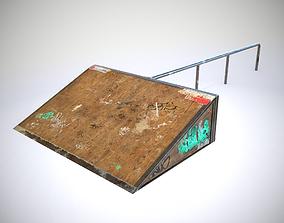 3D asset Small sk8 Ramp PBR Textures