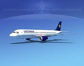 Airbus A320 LP Lufthansa 3D asset