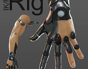 3D FPS hand anatomy mechanical 04