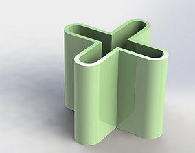 X Pen Holder Simple 3D printable model