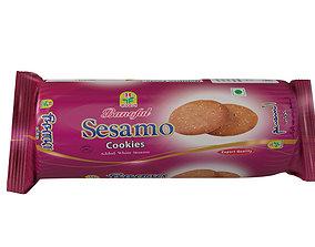 Biscuit packaging 3D