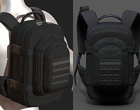 3D asset realtime Backpack Camping bag baggage Black