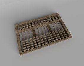 Chinese Abacus v1 002 3D asset