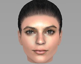 Beautiful woman head TYPE 1 3D model