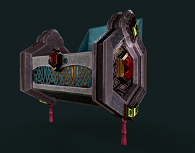 Stylized chest 3D asset