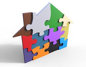 3D model House puzzle