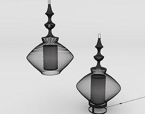 LAMPE and SUSPENSION OPIUM 3D
