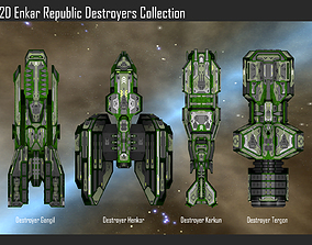 2D Enkar Republic Destroyers Collection 3D