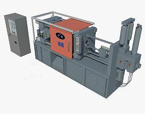 3D model Metal Die Casting Process Machine
