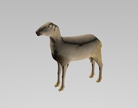 3D sheep LOW POLY