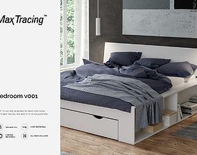 Bedroom v001 full scene 3D
