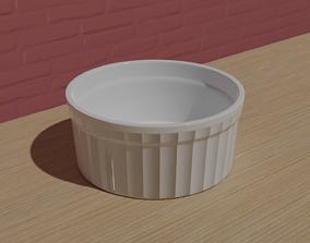 Ceramic Ramekin Bowl 3D asset