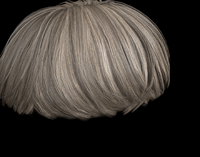 3D model Round Hair Low poly