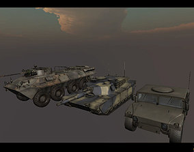 3D model Army Vehicles Pack