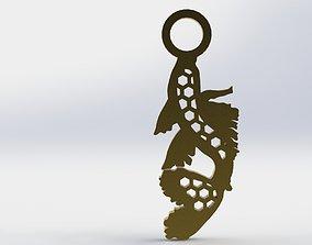 Koi Pendant 1 Hive 3D print model