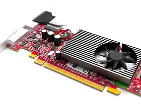 Radeon X1650 graphics card 3D model