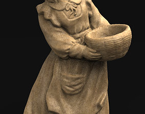 statue Field Girl 3D Model