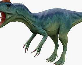 Dinosaur Allosaurus 3D model animated