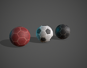 3D model game-ready Soccer Balls