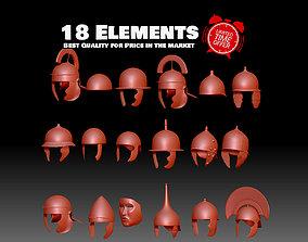 3D printable model 18 Roman Helmets for legionary 3