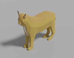 3D asset Cartoon Lynx