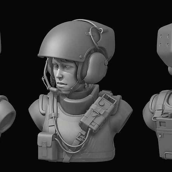 Sci-fi Helmet concept art