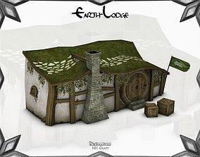 Earth-Lodge 3D asset