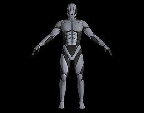 Warsuit lowpoly 3D model
