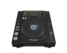 3D Digital Player Pioneer CDJ 850