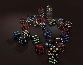 3D model Multi-Colors Emissive Dice Package