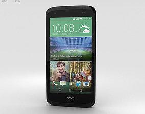 HTC Desire 526G Lacquer Black 3D model