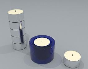 tealights and tealight holder 3D model