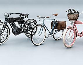 3 Vintage Bikes 3D model