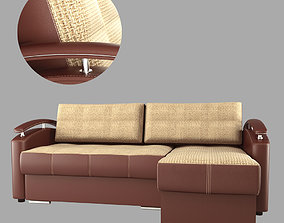 3D model leather sofa Comfort