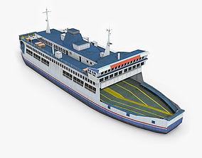 Ferry Boat 3D model VR / AR ready