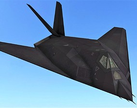 3D model FLY Game-Ready - F-117