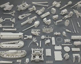 Tank Parts - 60 pieces - collection-2 3D model