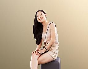 Anita 11350 - Summer girl sitting and smiling 3D model