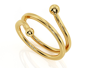 Ring R F 0110 curves 3D printable model