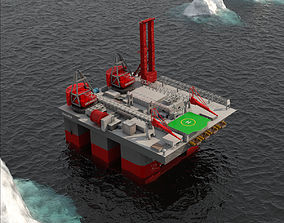 3D model VR / AR ready Balder Offshore Oil drilling Rig