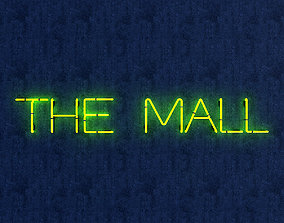 The Mall Neon Sign 3D model