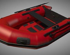 Rubber dinghy 3D