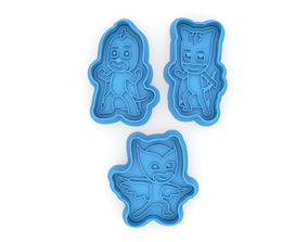 3D printable model PJ masks collection cookie cutters
