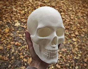 Anatomically correct human skull in full 3D print model