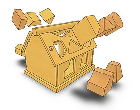 House sorter toy puzzle for 3D printing