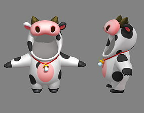3D model Cartoon cow costume