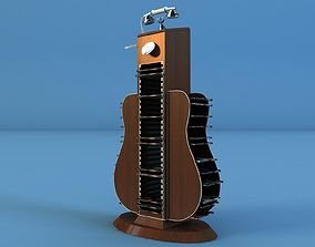 design 3D model guitar dvd cd
