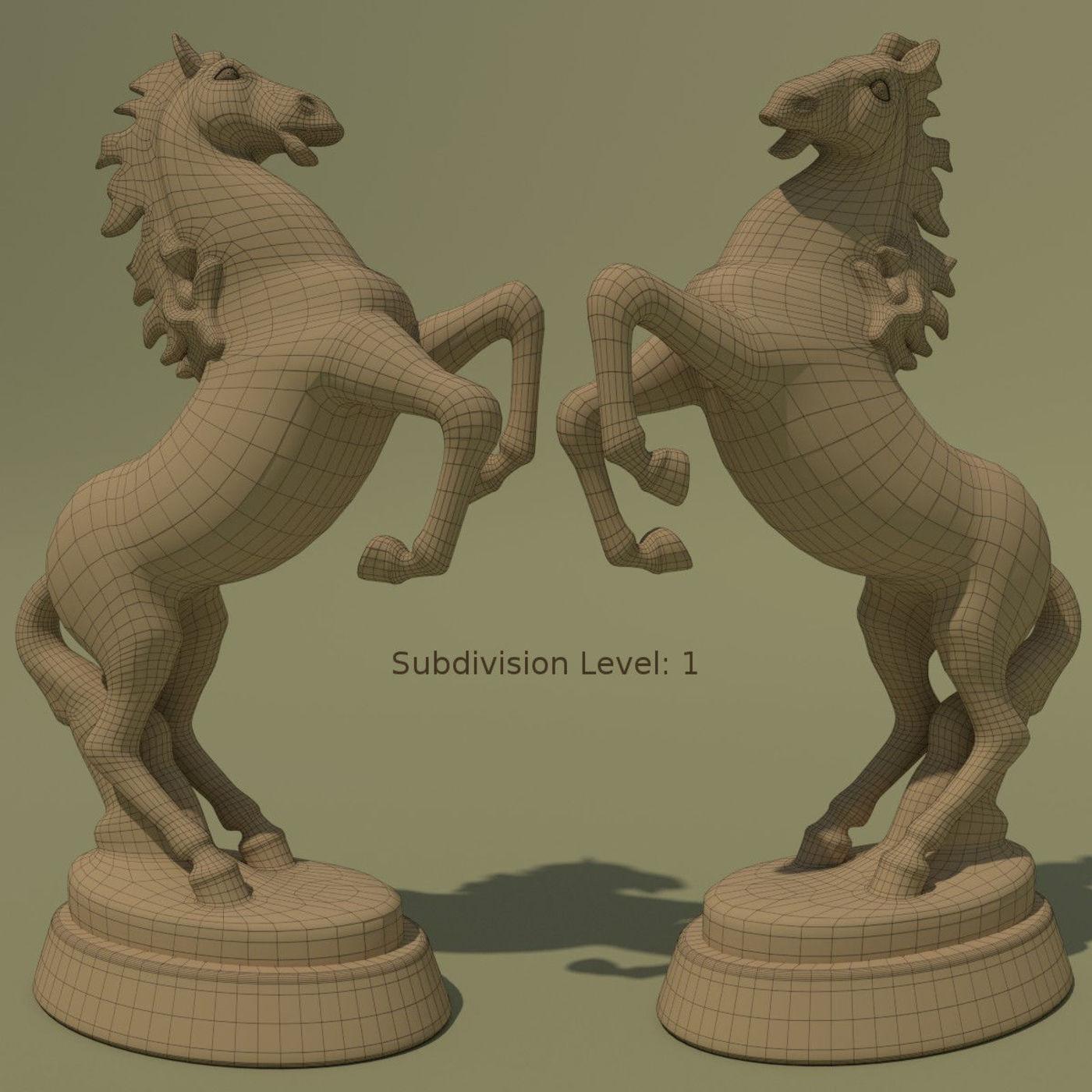 Horse Statuette 2B