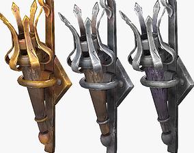 Stylized Castle Torch 3D model