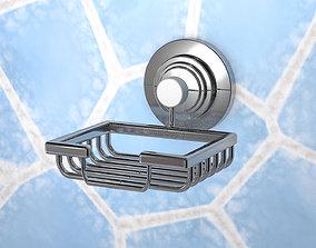 Stainless steel frame soap frame 3D model